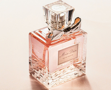Pink bottle of perfume